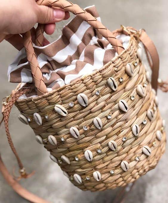 bolsa de praia da moda