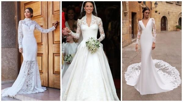 vestido de noiva com manga em renda