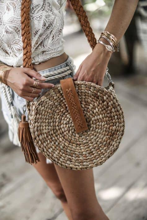 bolsa redonda da moda para primavera e verão
