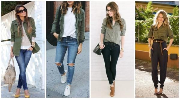 look com calça e camisa verde militar