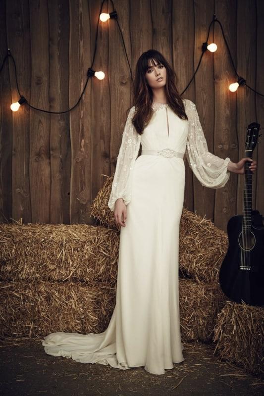 9 noiva com vestido boho de manga longa