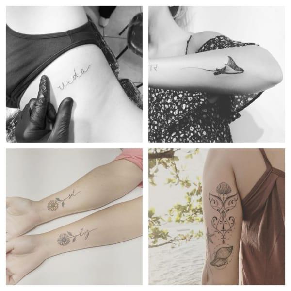 Tatuagem fineline Cabelo