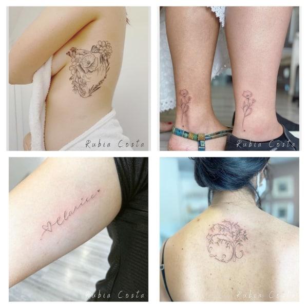 Tatuagem fineline Rubia