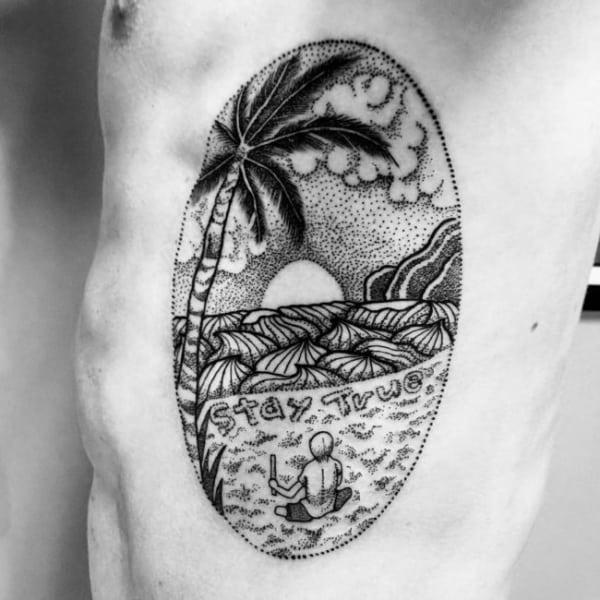 como fazer tatuagem de coqueiro