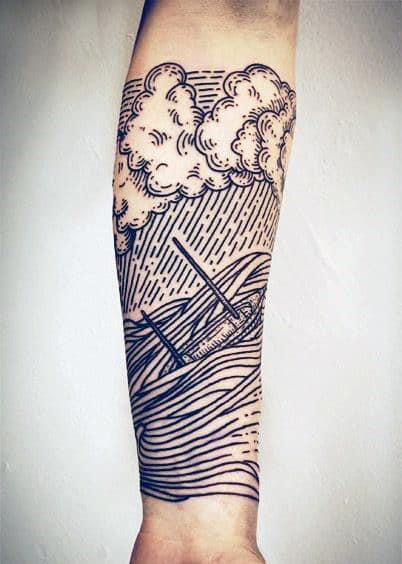 ideia de tatuagem fineline masculina