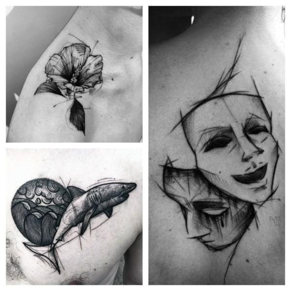 ideias de sketch tattoo 1