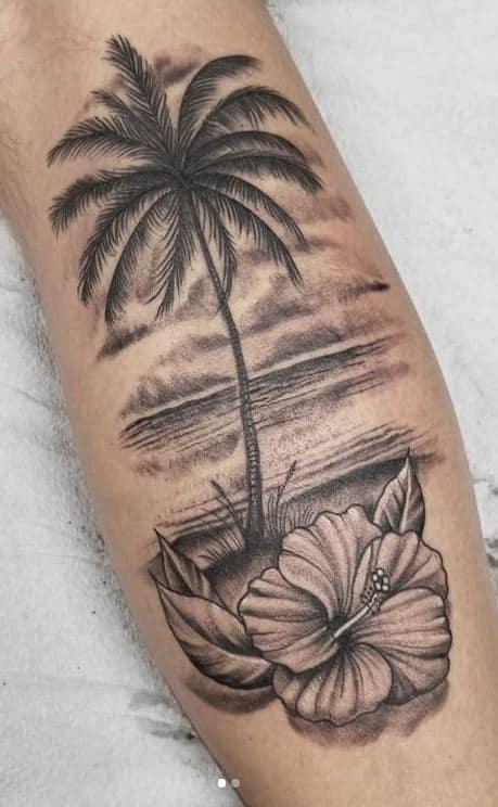 ideias de tatuagem de coqueiro