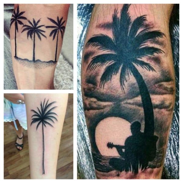 ideias de tatuagens de coqueiro