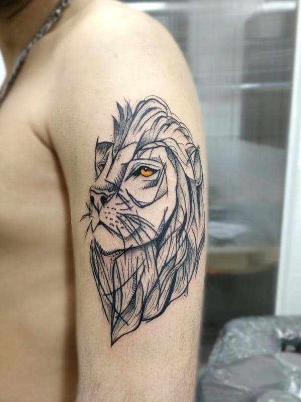 leão rascunhado