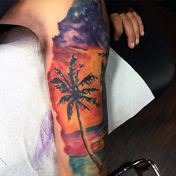 linda tatuagem de coqueiro