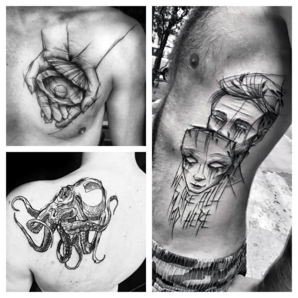 sketch tattoo ideias
