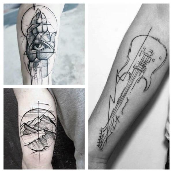sketch tattoo modelos
