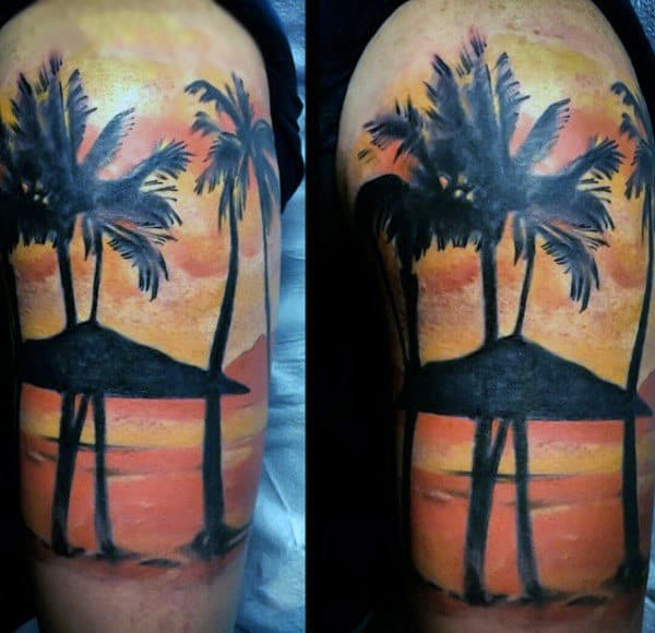 tatuagem de coqueiro grande