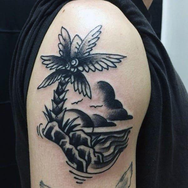 tatuagem de coqueiro no braço 1