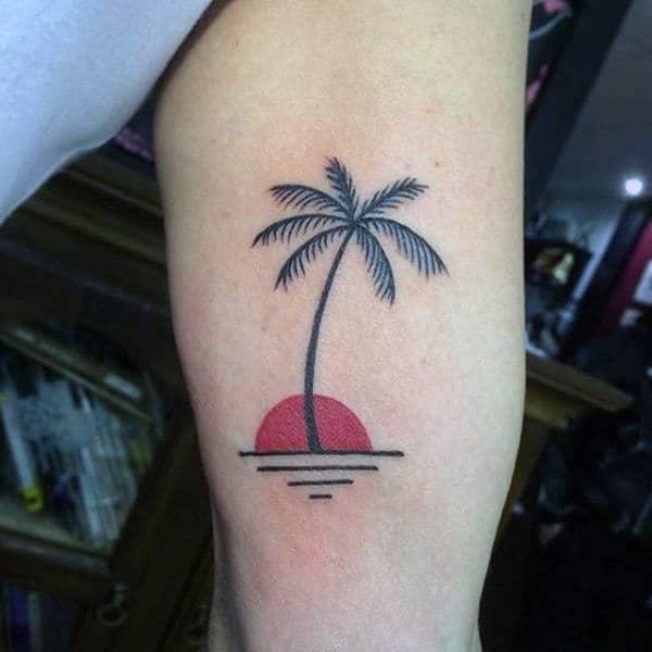 tatuagem de coqueiro simples