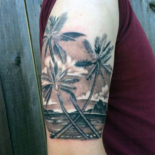 tatuagem de coqueiro sombreada 1