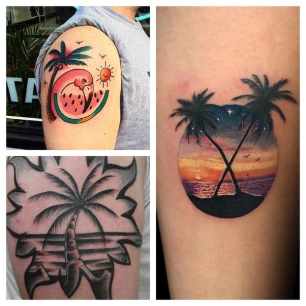 tatuagem de coqueiro