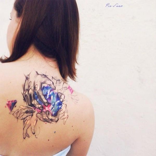 tatuagem sketch colorida 1
