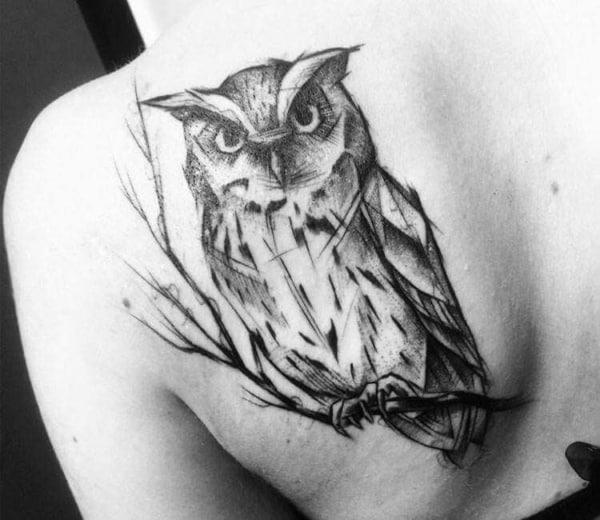 tatuagem sketch nas costas 1