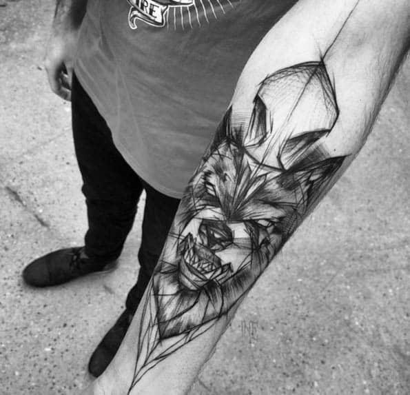 tatuagem sketch no braço