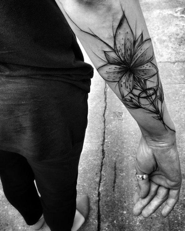 tatuagem sketch sombreada