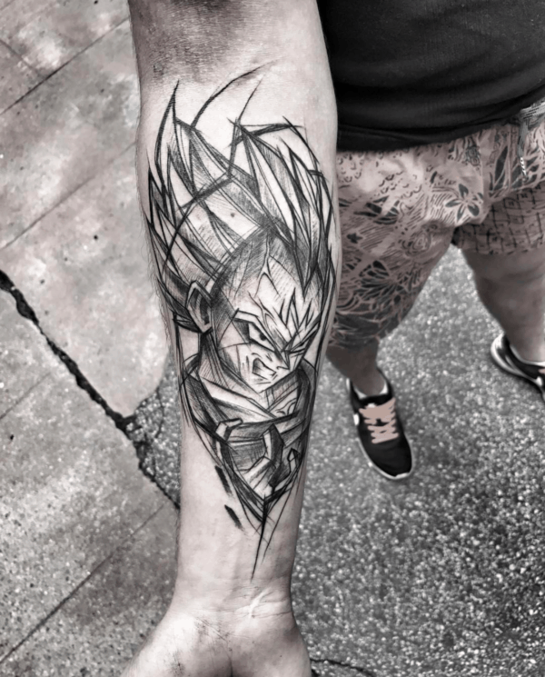 tatuagem sketch vegeta