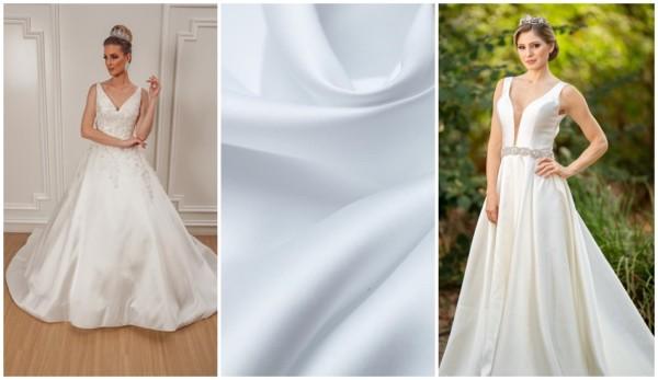 tecido estruturado para vestido de noiva