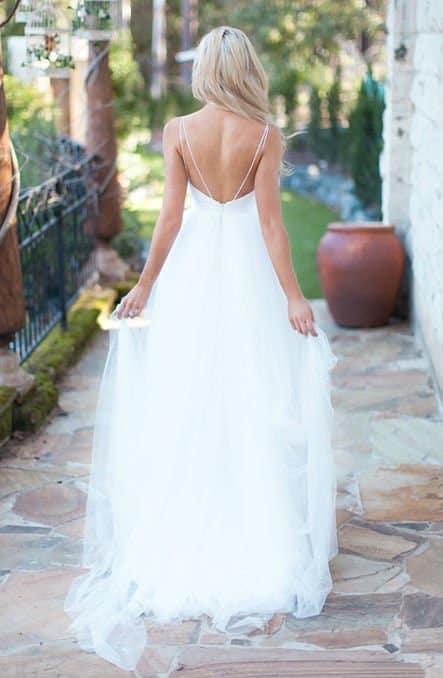 vestido de noiva em tule
