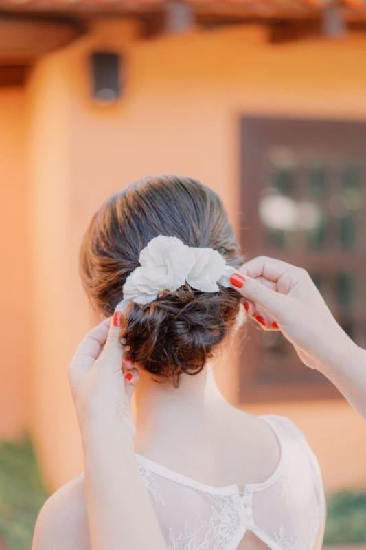 grinalda de flores para noivas
