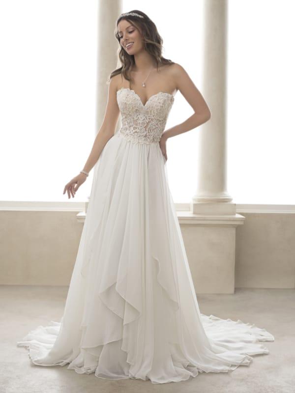 vestido de noiva com saia de chiffon