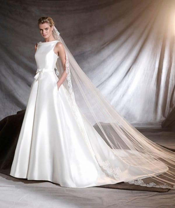 tecido mikado para vestido de noiva minimalista rodado