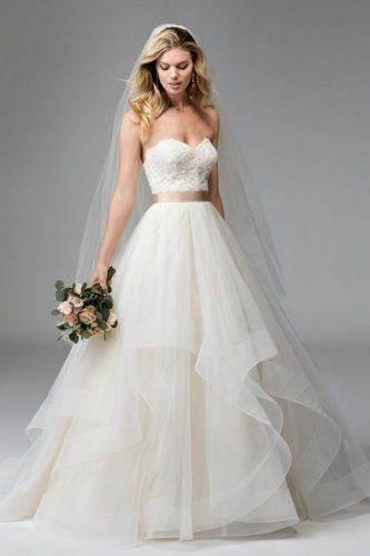 vestido de noiva com saia em organza