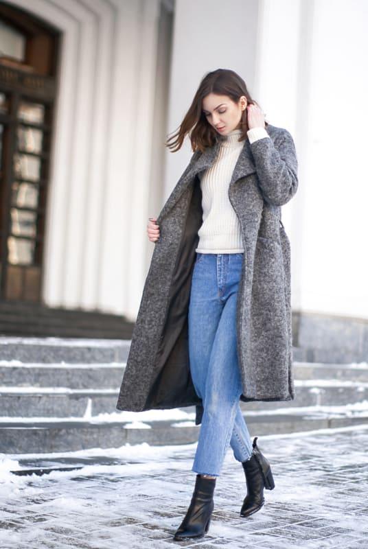 look de inverno com calça mom jeans vintage