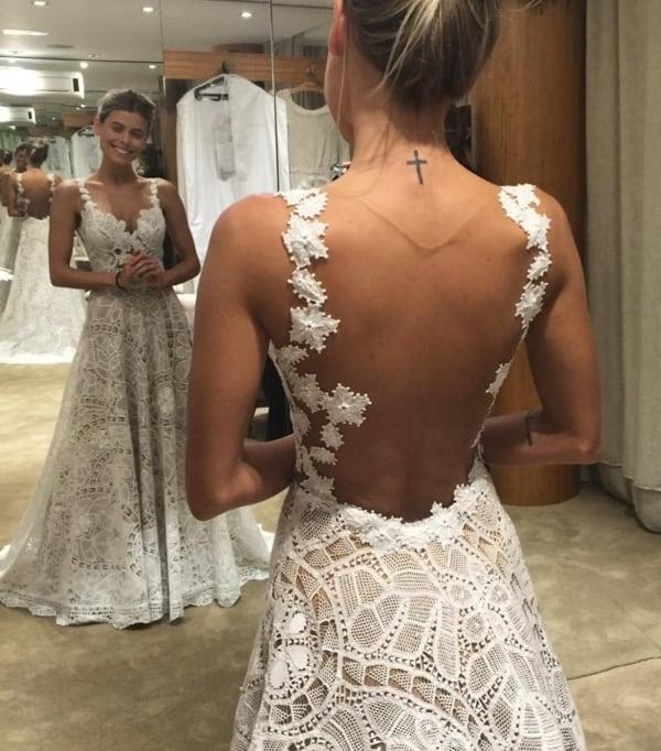 vestido de noiva de renda renascença