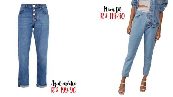 onde comprar e preços de calças mom jeans