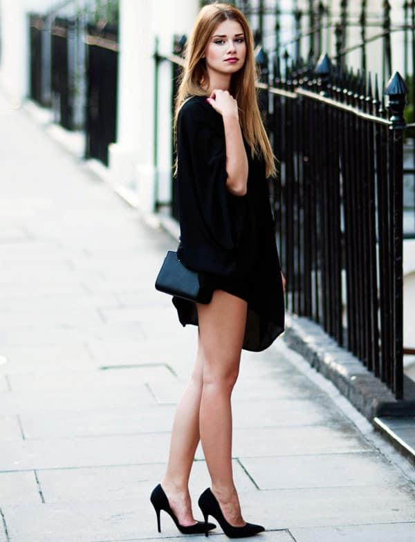 scarpin preto look vestido preto 28