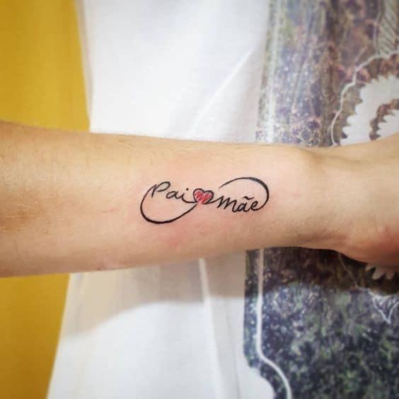 tatuagem do infinito para pai e mãe