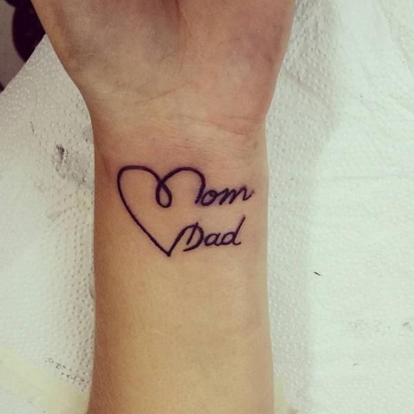 tatuagem em inglês para pai e mãe
