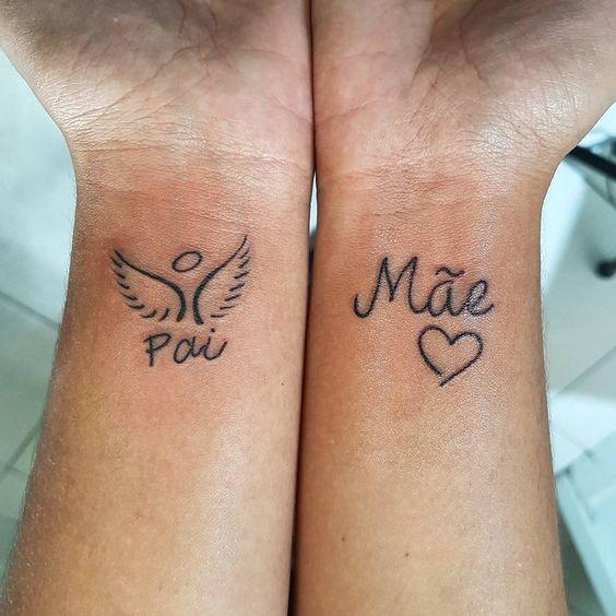 tatuagem nos pulsos para pais