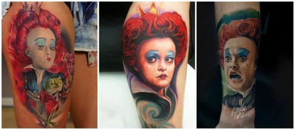tatuagens Rainha de Copas Alice no País das Maravilhas