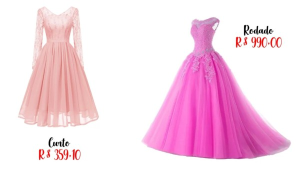 modelos e preços de vestido de noiva rosa