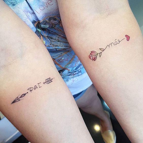 tattoos delicadas para pai e mãe