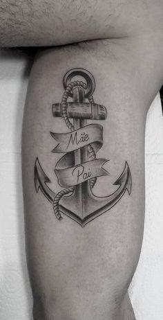 tattoo masculina grande para pai e mãe