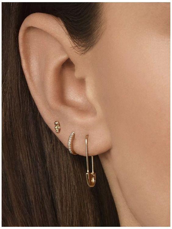 orelha com 3 furos