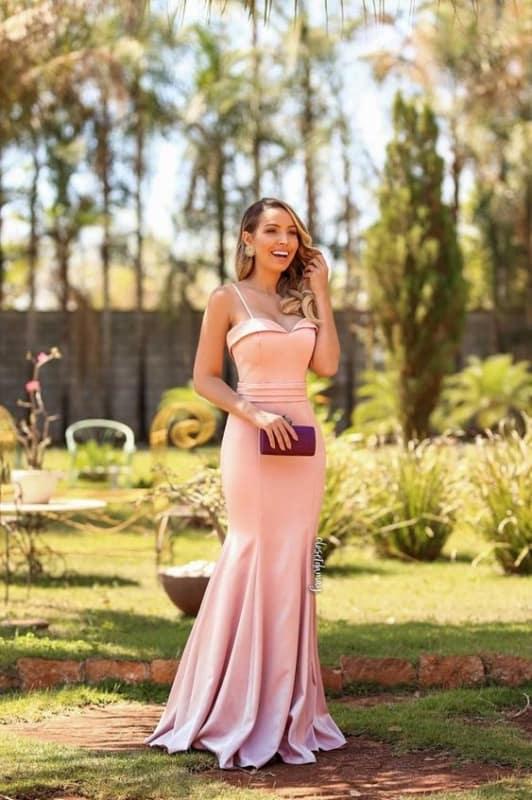 vestido sereia rosa para madrinha de casamento