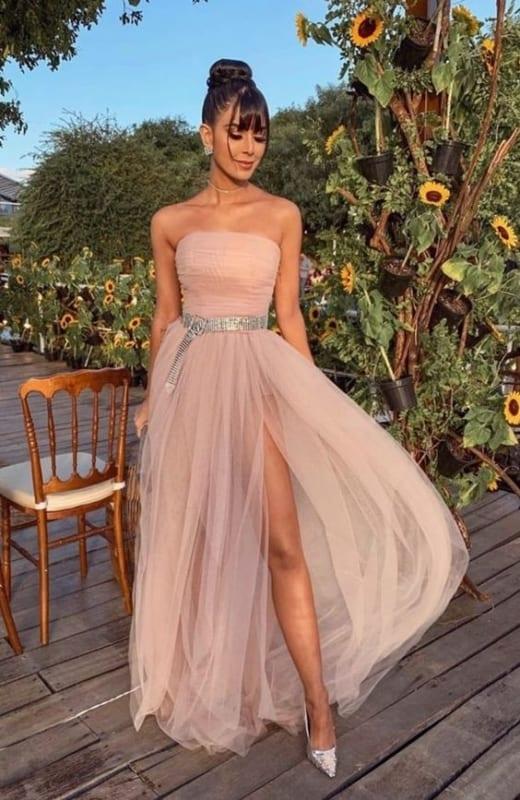 vestido tomara que caia rosa para madrinha de casamento