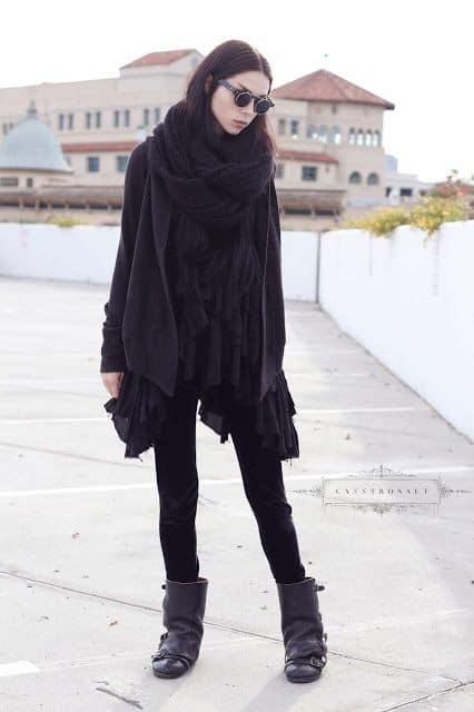 look de inverno estilo gotico