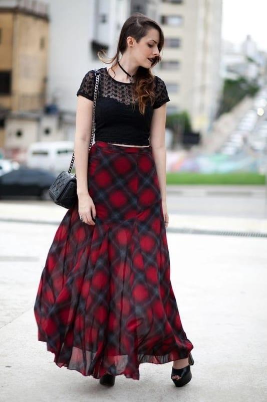 estilo gotico suave com saia longa