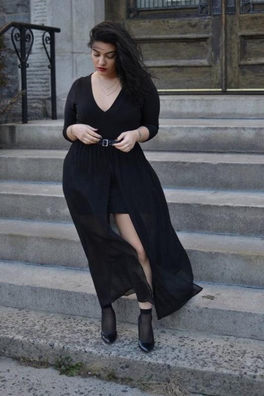 look plus size estilo gotico suave