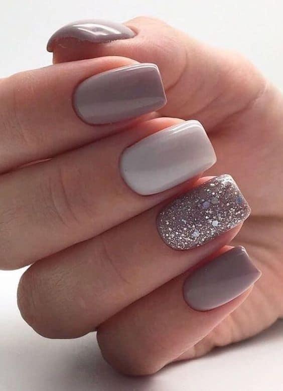 nail art com filha unica com glitter